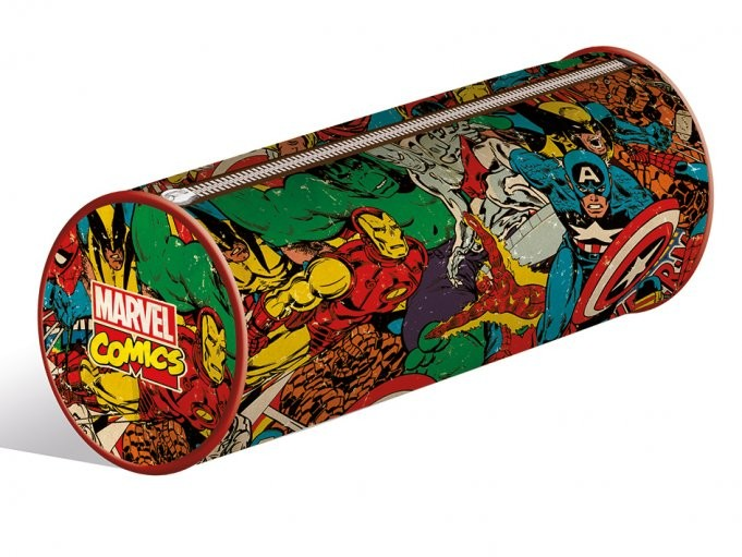 Papelaria Marvel Retro - Collage pencil case