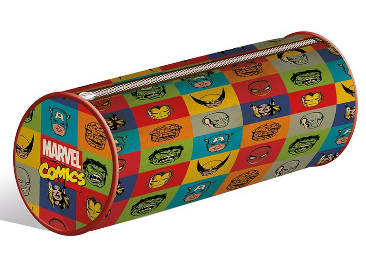 Papelaria  Marvel Retro - Faces pencil case