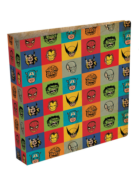 Papelaria Marvel Retro - Faces ring binder
