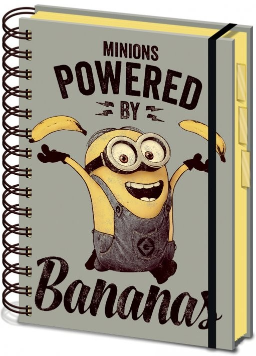 Papelaria Minions (Despicable Me) - Powered by Bananas A5