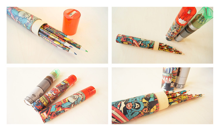 Papelaria  Star Wars - Lightsaber Pencil Tube