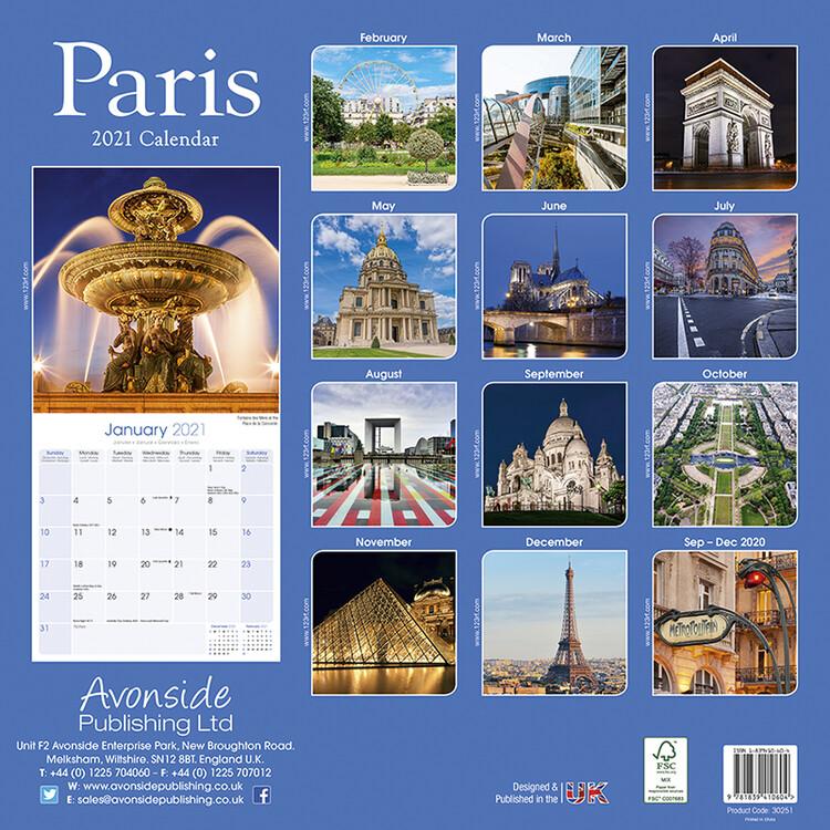 Calendar 2021 Paris