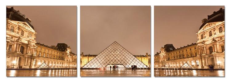 Paris - Le Louvre Tableau Multi-Toiles