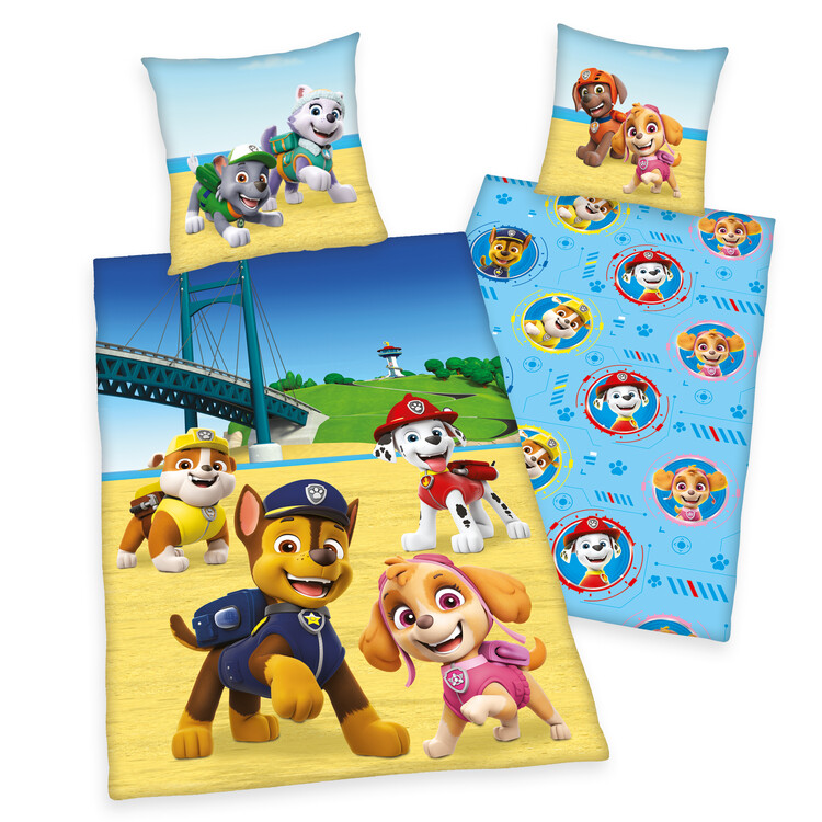 Bed sheets Paw Patrol - Beach