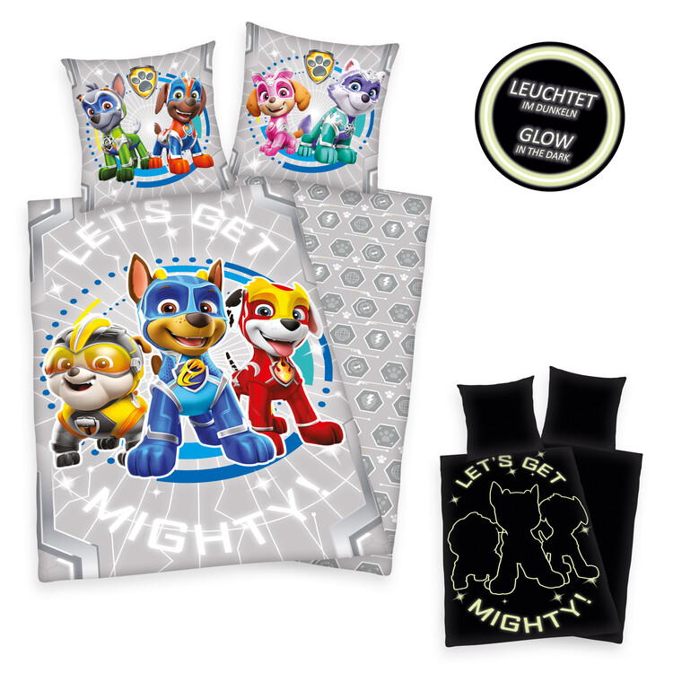 Bed sheets Paw Patrol - Mighty Pups