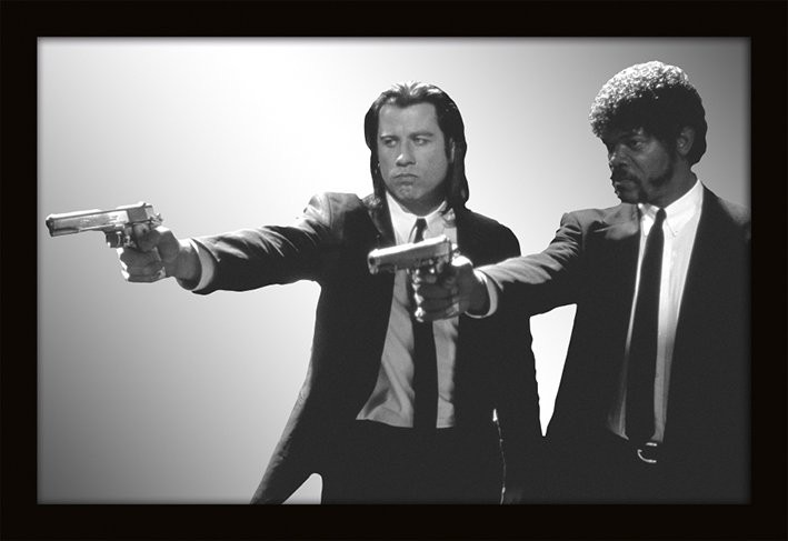 MIRRORS - pulp fiction / guns Peili