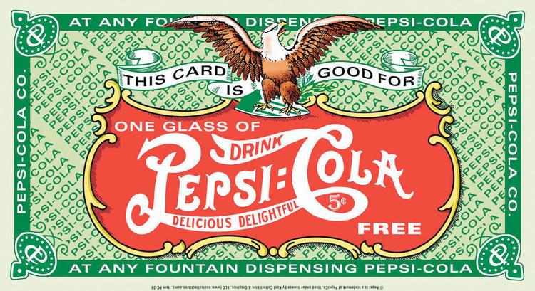 PEPSI DRINK CARD Plaque métal décorée