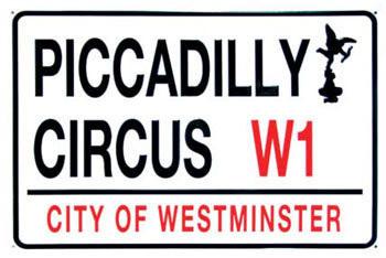 PICCADILLY CIRCUS Plaque métal décorée