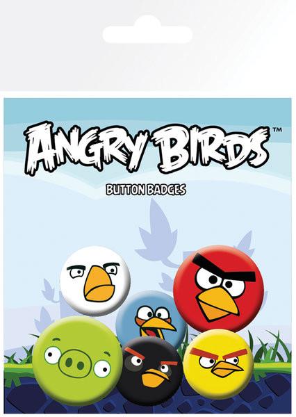 Conjunto de crachás Angry Birds - Faces