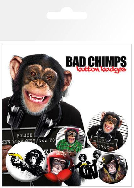 Conjunto de crachás BAD CHIMPS