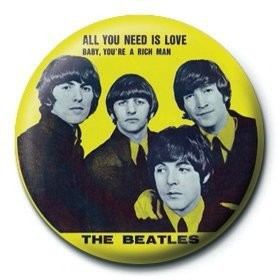 Pins BEATLES - yellow