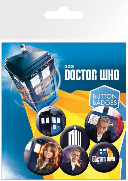 Conjunto de crachás Doctor Who - New