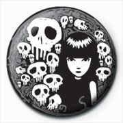 Pins Emily The Strange - skulls