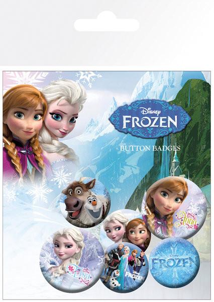 Conjunto de crachás Frozen - mix