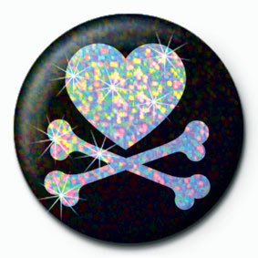 Pins HEART AND CROSSBONES
