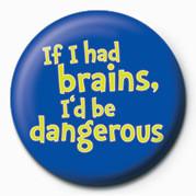Pins IF I HAD BRAINS, I'D BE DA