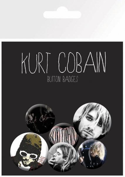 Conjunto de crachás Kurt Cobain