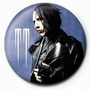 Pins MARILYN MANSON - leather