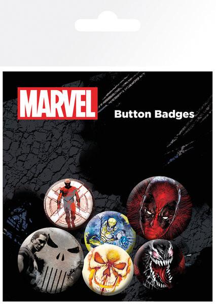 Conjunto de crachás Marvel Extreme - Mix