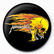 Pins METALLICA - FLAMING SKULL