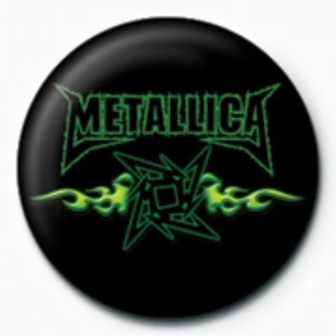 Pins METALLICA - green flames GB