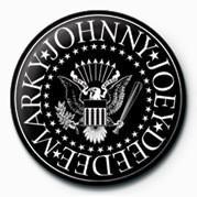 Pins Ramones (B&W Logo)
