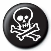 Pins Skull & Crossbones (B&W)