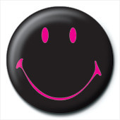 Pins SMILEY - black