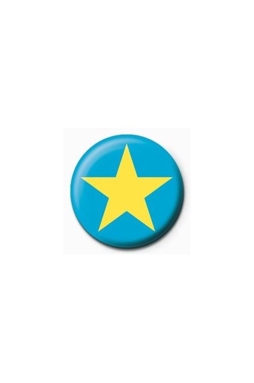Pins STAR - blue/yellow