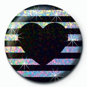 Pins STRIPY HEART