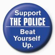 Pins SUPPORT THE POLICE, BEAT Y