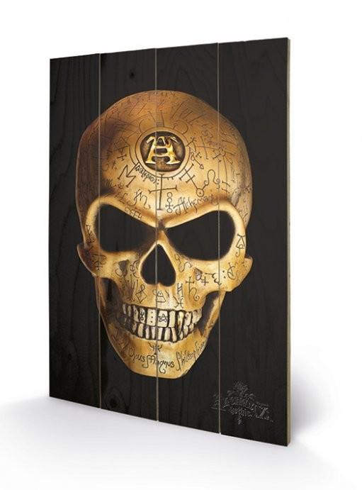 Pintura em madeira  ALCHEMY - omega skull