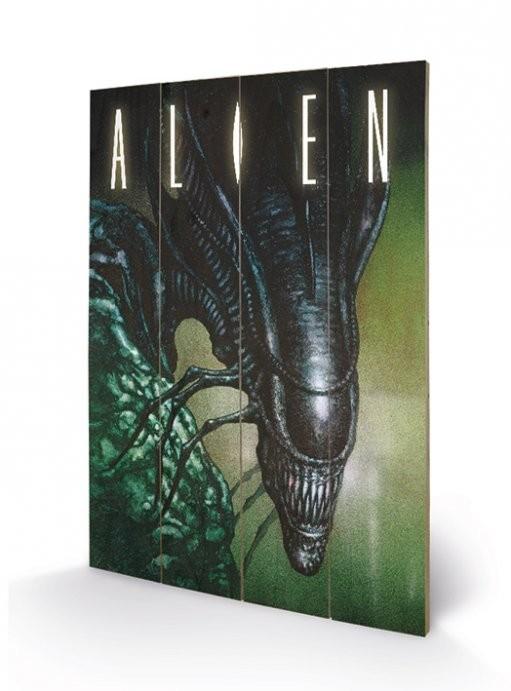Pintura em madeira Alien - Creep