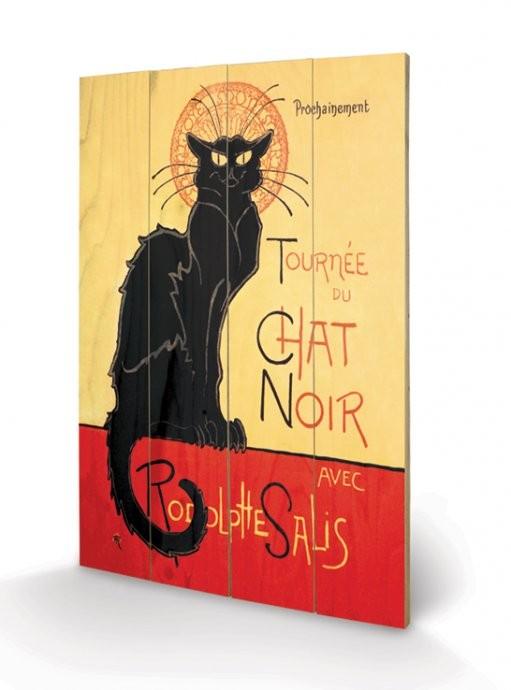 Pintura em madeira Chat Noir