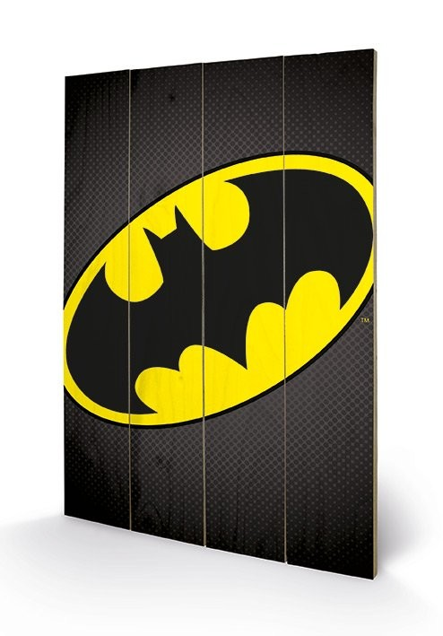 Pintura em madeira DC Comics - Batman Symbol