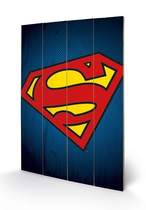 Pintura em madeira DC Comics - Superman Symbol