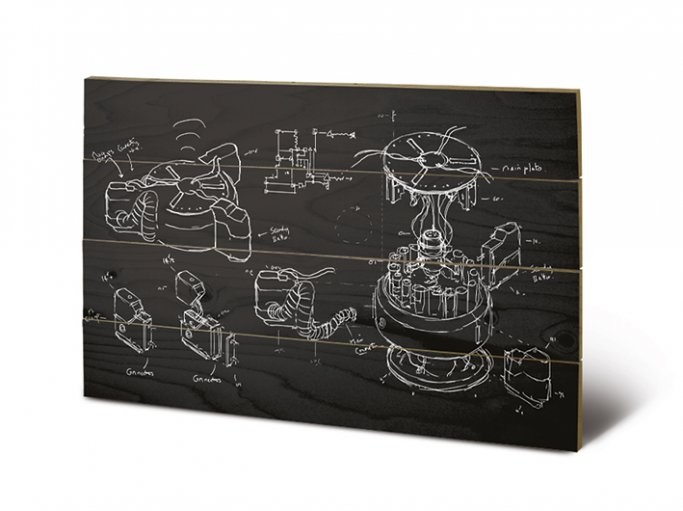 Pintura em madeira Doctor Who - Chalk board