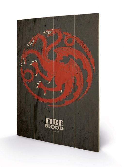 Pintura em madeira Game of Thrones - Targaryen