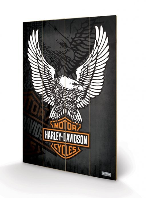 Pintura em madeira HARLEY DAVIDSON - eagle