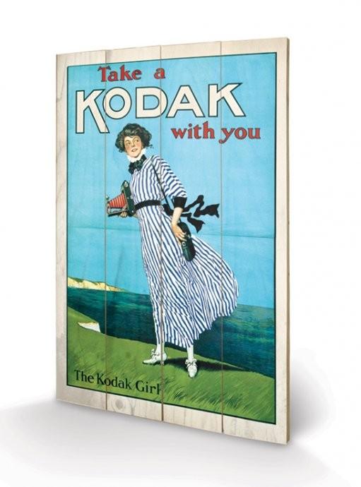 Pintura em madeira Kodak Girl