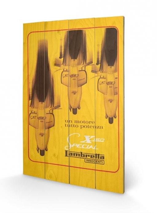 Pintura em madeira Lambretta - X150 Special
