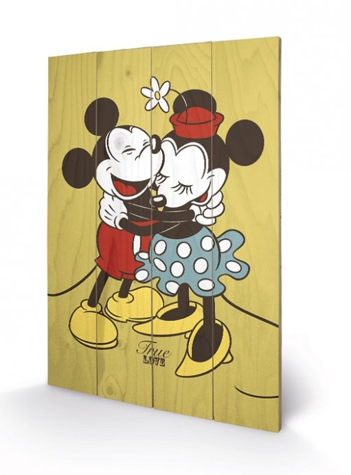 Pintura em madeira Mickey & Minnie Mouse - True Love