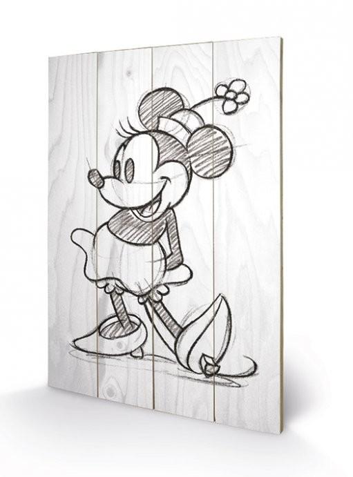 Pintura em madeira Minnie Mouse - Sketched - Single