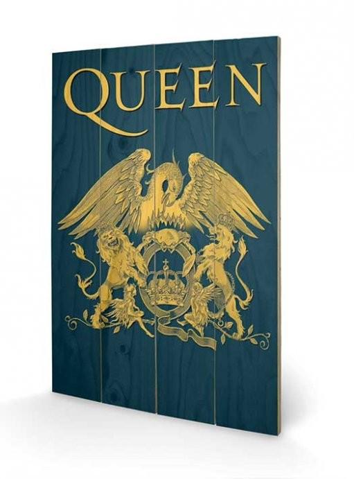 Pintura em madeira Queen - Crest