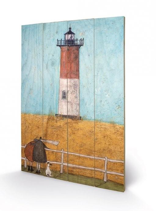 Pintura em madeira  Sam Toft - Feeling the Love at Nauset Light