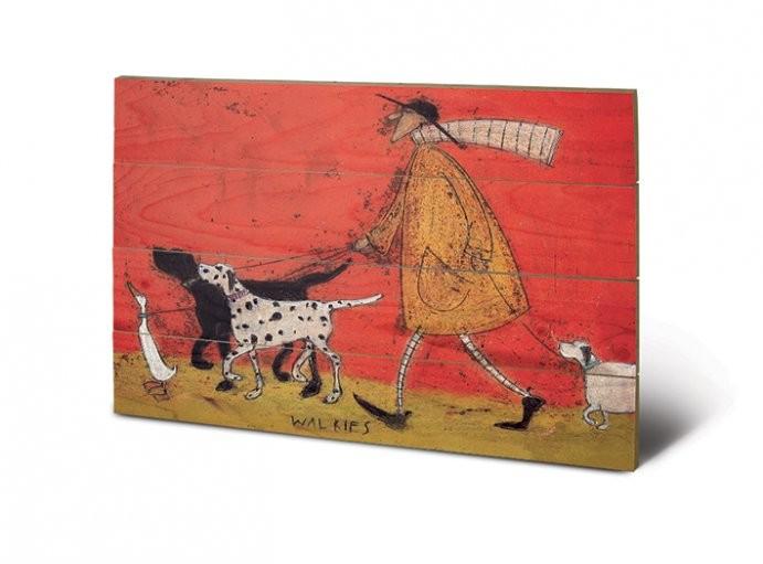 Pintura em madeira Sam Toft - Walkies