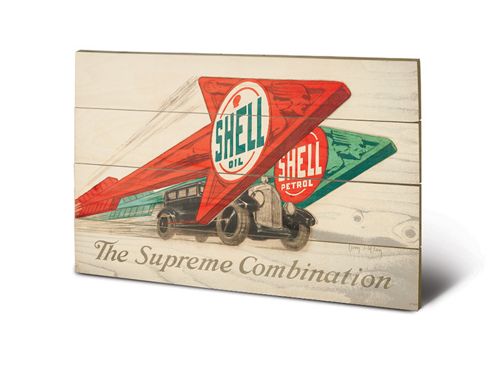 Pintura em madeira Shell - The Supreme Combination