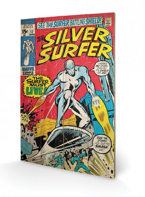 Pintura em madeira  Silver Surfer - Must Live