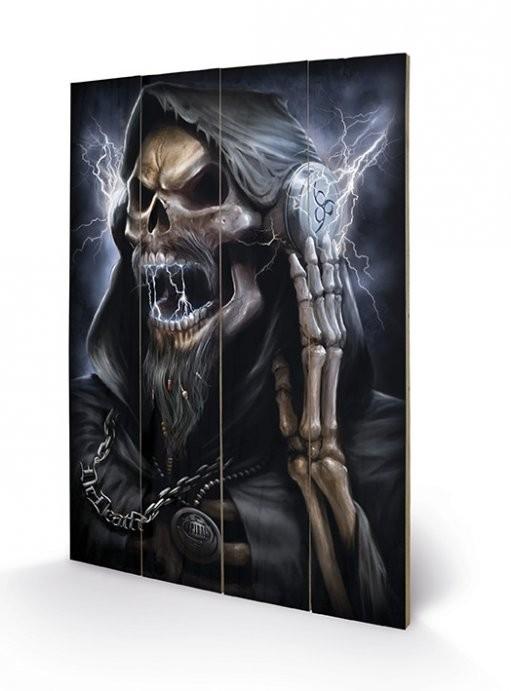 Pintura em madeira SPIRAL - dead beats / reaper