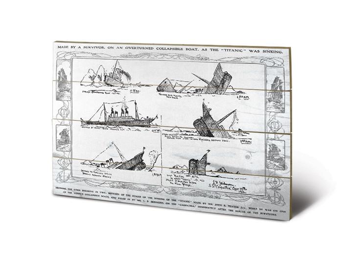 Pintura em madeira Titanic - Sinking